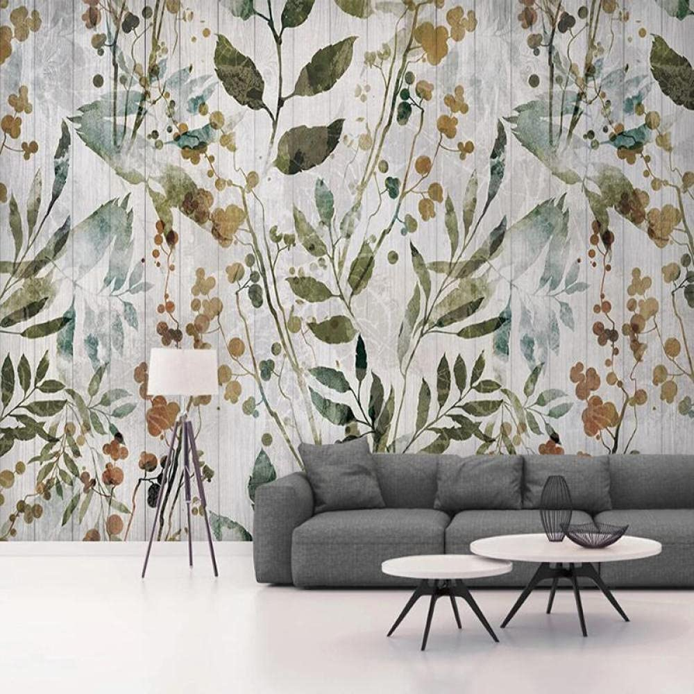 Custom Any Size Mural Wallpaper Modern shopping Wo Leaves 3D Style Charlotte Mall Nordic