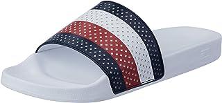 Tommy Hilfiger Men's Perforated Flag Pool Slide