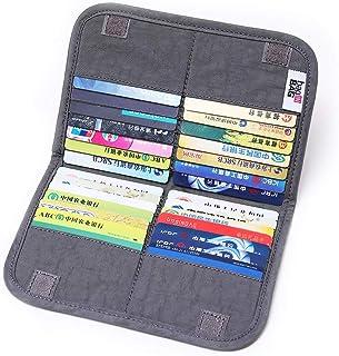 iN. Slim credit card holder wallet, Gift card display case, Minimalist light thin card storage case rfid blocking for men...