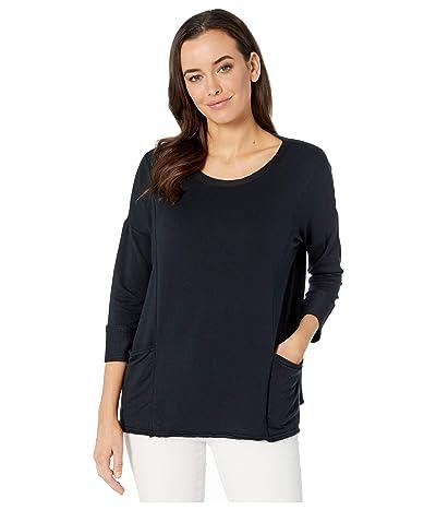 Fresh Produce Diana Boxy Lightweight Modal Spandex Sweatshirt (Black) Women