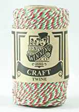 Green /& White No.5 Cotton Craft Twine//String 125g Approx 65m