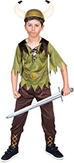 Viking Costume for Boys, with Nordic Top and Trousers, Kids