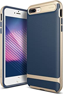 Caseology Wavelength for Apple iPhone 8 Plus Case (2017) / for iPhone 7 Plus Case (2016) - Stylish Grip Design - Navy Blue
