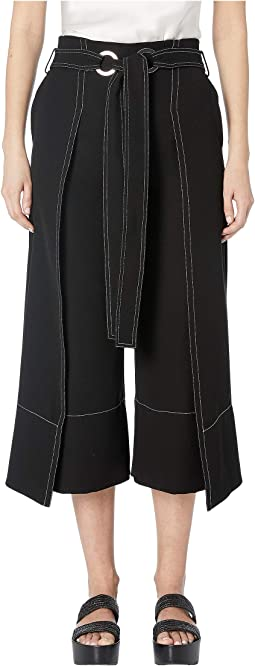 Wrapped Front Pants with Tie Detail