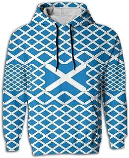 Men's Hoodies Scotland Flag Sweatshirt Hooded Sweatshirt Pullover Pockets With Creative 3D Printed Graphic