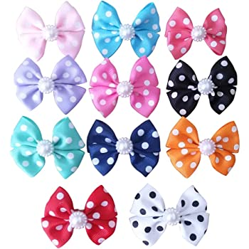 Amazon Com Pet Show 10 Pack Bling Small Dogs Topknot Hair Bows With Clips For Short Hair Pets Costumes Puppy Cat Rabbit Hair Accessories Assorted 7 Colors Pet Supplies