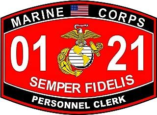 Military Vet Shop Personnel Clerk Marine Corps MOS 0121 Window Car Bumper Sticker Vinyl Decal 3.8
