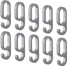 Gedotec haken voor garderobestang garderobekoker ovaal - H10623 | kunststof zilver | kleerhanger voor garderobestang 30 x ...
