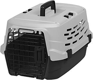 IRIS USA Easy Access Pet Travel Carrier with Two Access Doors, Small, Black/Gray (589001)