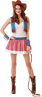 Boo Inc. Country Cowgirl Halloween Costume for Women   Sexy Wild West Dress Up Outfit