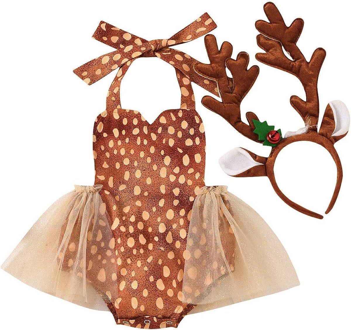 2021 new Newborn Baby shopping Girls Elk Christmas W Reindeer Costumes Fa Hairband