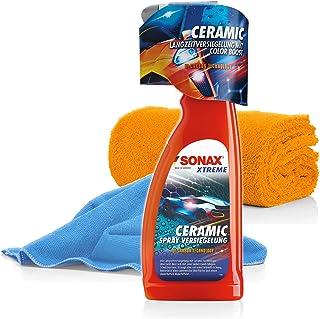 detailmate SONAX Xtreme Ceramic Versiegelung Set Coating Keramik Versiegelung für Autos mit 2X Mikrofasertuch, für Schutz und Glanz