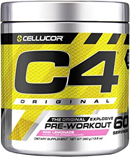 C4 Original Pre Workout Powder Pink Lemonade | Vitamin C for Immune Support | Sugar Free Preworkout Energy for Men & Women...