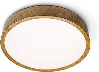 Lampe LED de salle de bain - 24 W - 1920 lm - Blanc naturel 4000 K - Couvercle PMMA et base en acier - Anneau décoratif AB...