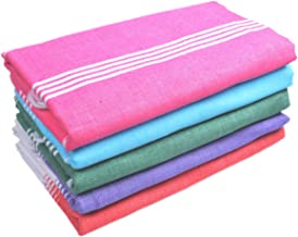 Sathiyas Supreme Soft Cotton Bath Towel-5pcs Combo (Lavender, Red, Green, Pink, Blue)(30 * 60)