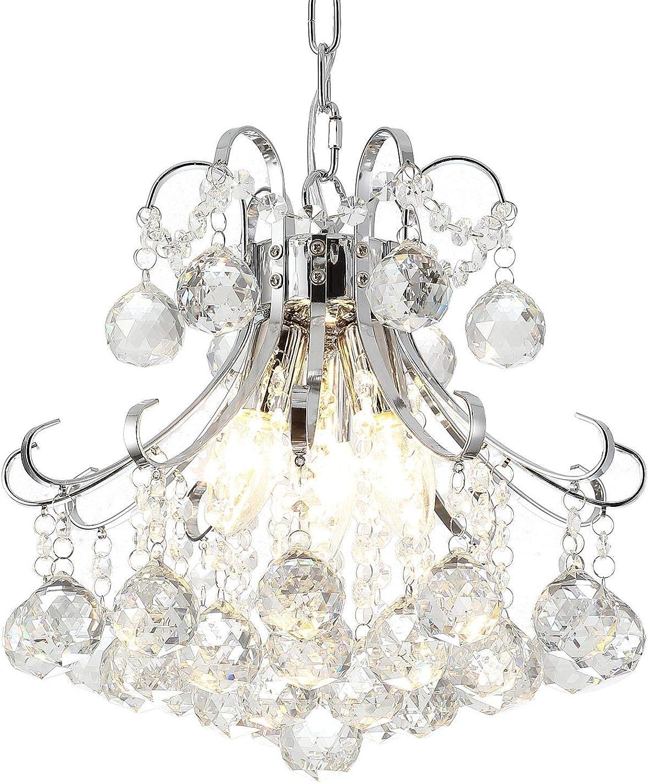 Ganeed Kronleuchter, 3-Licht Moderne Kristall Kronleuchter, Anhnger Beleuchtung, unterputz Decken Leuchte für Wohnzimmer, Büro, Esszimmer, Schlafzimmer, Chrom