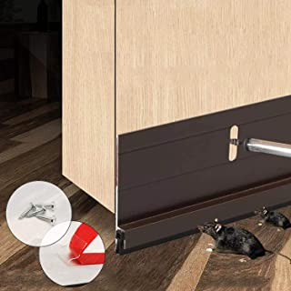 BAINING Heavy Duty Door Draft Stopper, Under Door Sweep Bottom Seal Strip, Made of Aluminium Anti Mouse Bite 2