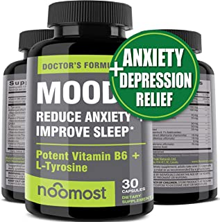 Sponsored Ad - Mood Support - Anxiety Relief Supplement Mood Boosts, Reduces Stress Relief & Depression - L Tyrosine, Ashw...