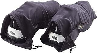 Lewis N. Clark Drawstring Bag Nylon Shoe Covers for Travel, Women & Men, 2 pair, Charcoal/Black