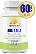 Our Daily Vites L-Methylfolate 7.5 mg + B Complex Cofactors & Essential Amino Acids - Active Folate, Methylated B12 methyl...