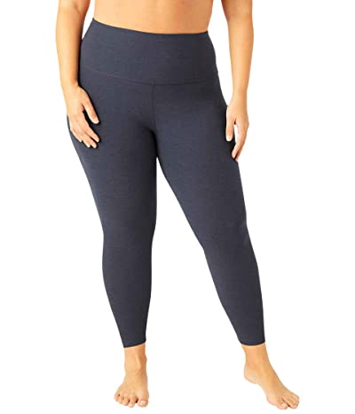 Beyond Yoga Plus Size High Waisted Midi Leggings (Nocturnal Navy) Women