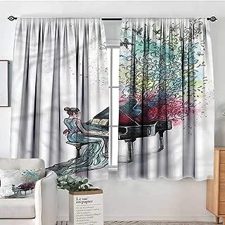 Anzhutwelve Music,Bedroom Drapes Grand Piano Musician Pianist 52