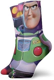 JONINOT, Dibujos animados Toy Story Buzz Lightyear Calcetines Crew Comfort Casual Deportes Adolescentes Anime Tobillo Niño acogedor W8.5CM x L30CM