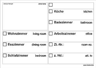 20x Umzugsetiketten Nr.2, 148x105 - A6, Beschriftung mit Etiketten vom Umzugskarton für den Umzug, Umzugetiketten, Weiß