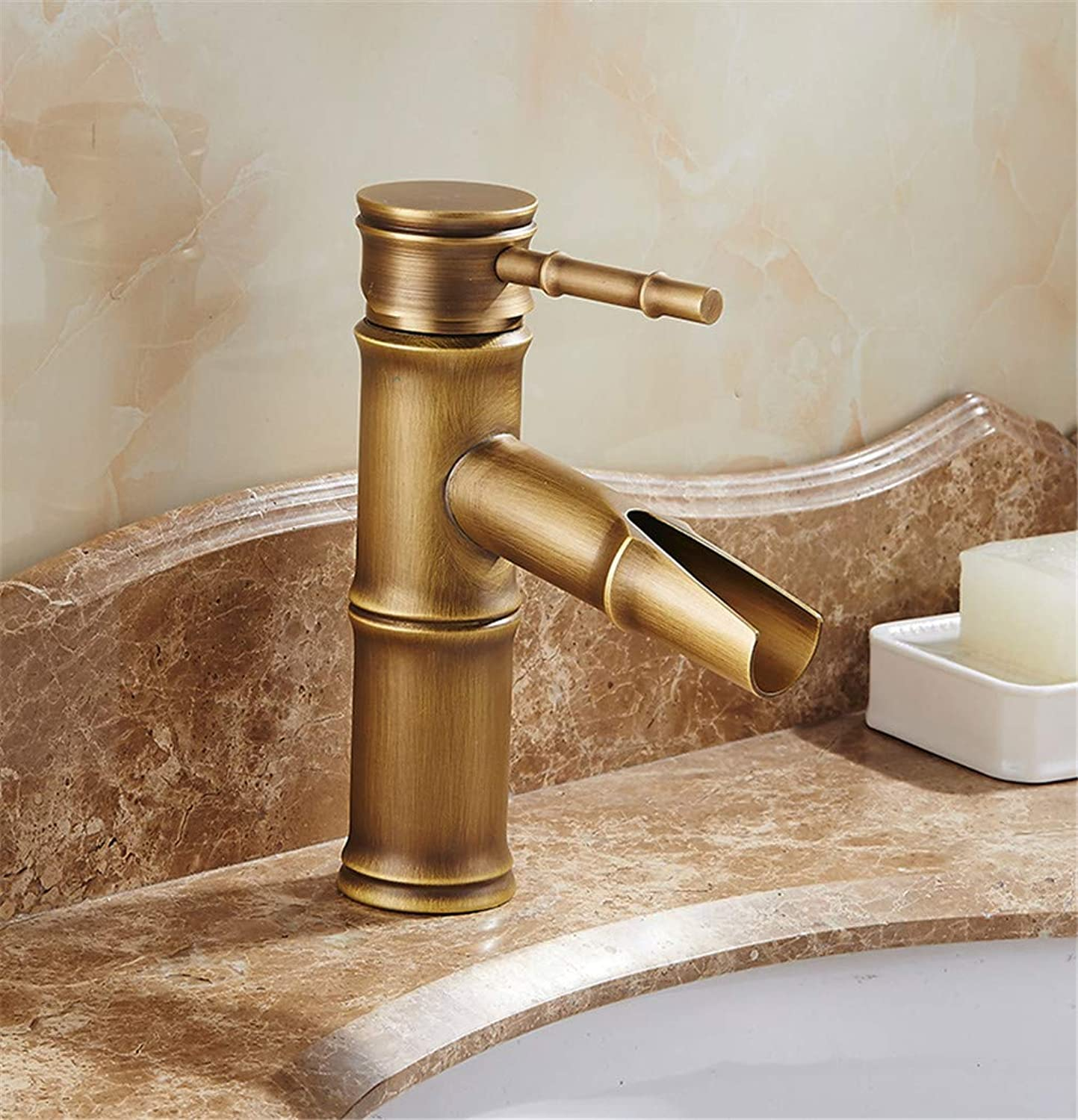 Antique Bamboo Bathroom Faucet Antique Bronze Finish Brass Basin Sink Faucet Single Handle Bamboo Water Tap Shower tap