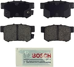 Bosch BE537 Blue Disc Brake Pad Set for Select Acura CL, CSX, ILX, RSX, TL, TSX; Honda Accord, Civic, CR-Z, Prelude, S2000; Suzuki Kizashi, SX4 - REAR
