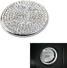 iJDMTOY Silver Bling Crystal Decor Chrome Keyless Engine Start/Stop Push Start Button Cover Cap For Mercedes C E S M CLA CLS CLK GLA GLC GLE GL SL Class, etc