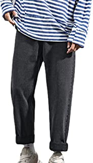 Generic11 Jeans Casual da Uomo Pantaloni Larghi a Gamba Dritta Non Sono Facili da sbiadire Pantaloni in Denim a Nove Punti...