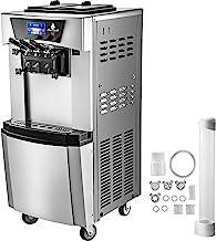 VEVOR Machine à Glace, 2300W Glace Italienne, 2 x 6 L Machine de Mélange de Yogourt Glacé LED Panneau pour mélanger différ...