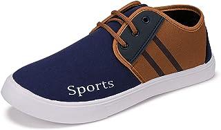 2ROW Men's Color Block Navy & Brown Sneakers