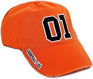 New General Lee Orange Embroidered Cotton Twill Cap Hat