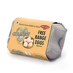 KAVITA AGROSS Free Range Country Eggs (Pack of 6)