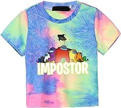 BUBABOX Kids Boys Girls Among Us Hoodies Game Striped Long Sleeve Sweatshirt