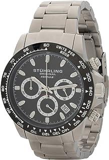 Stuhrling Original Men's Black Dial Leather Band Watch - 889.02