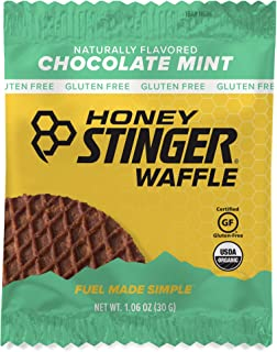 Honey Stinger Organic Gluten Free Waffle, Chocolate Mint, Sports Nutrition, 1.06 Ounce (16 Count)