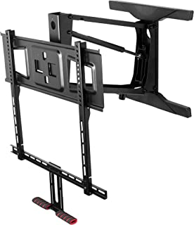 VIVO Counterbalance TV Wall Mount for 40 to 63 inch LCD LED Plasma Screen   Above Fireplace Height Adjustable Swivel Pneumatic Spring Pull Down Mantel Wall Mount (MOUNT-VW63G)
