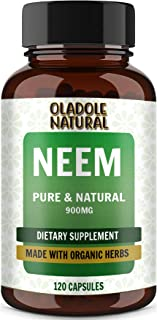 Oladole Natural Neem 900 Mg, Made with Organic Herbs, Supports Digestive Functions, Promotes Detoxification of Blood, Supp...