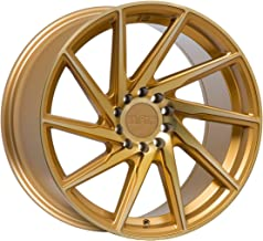 F1R F29 Gold Wheel with Machined Finish (18 x 8.5 inches /5 x 114 mm, 45 mm Offset)