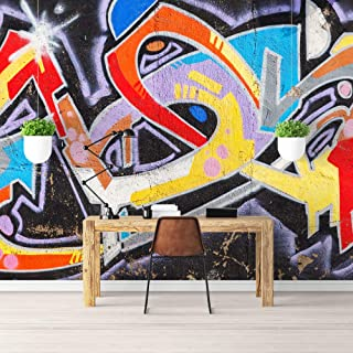 wall26 Wall Mural Simple and Mysterious Graffiti Art Removable Self-Adhesive Large Wallpaper - 100x144 inches