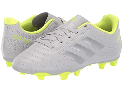 adidas Kids Copa 20.4 FG Soccer (Little Kid/Big Kid) (Grey/Matte Silver/Solar Yellow) Kids Shoes