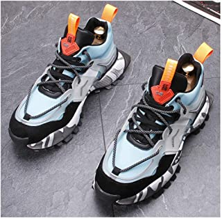 Unisex Running Shoes Mens Womens Air Shock Absorbing Trainers Fashion Low-Top Shoes for Multi Sport Athletic Jogging Fitness Walking Casual Shoes,E,42EU