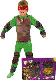 Disfraz de Tortuga Ninja en caja para niño, infantil 3-4 a
