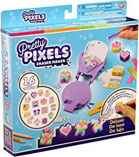 Bandai 38531 Pretty Krazy Pixels - Juego de Gomas para Manualidades