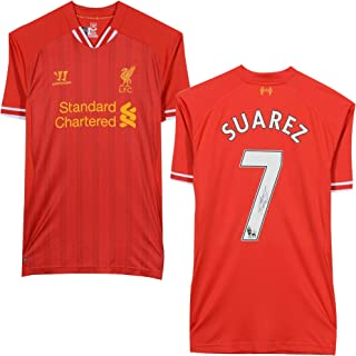 Luis Suarez Liverpool Autographed Red Jersey - Icons - Autographed Soccer Jerseys