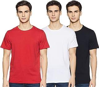 Amazon Brand - Symbol Men's Solid Regular Fit Half Sleeve Cotton T-Shirt (Combo Pack of 3)