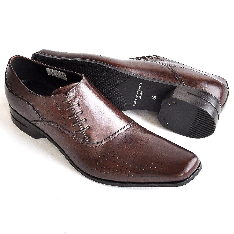 キャサリンハムネット ビジネスシューズ 靴 革靴 紳士靴 メンズ 本革 サイドレースアップ メダリオン マッケイ 31602